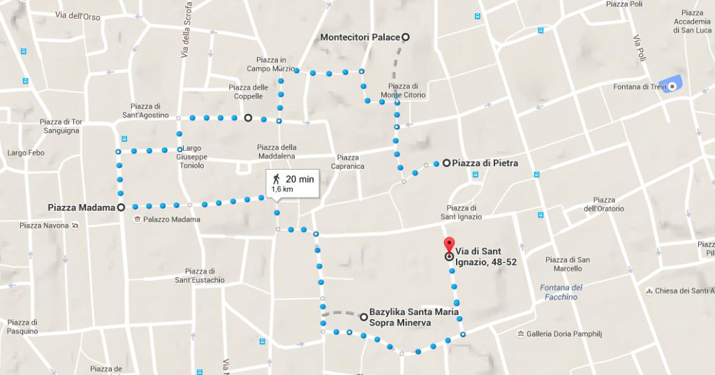 mapa rzym zwiedzanie centro storico część I